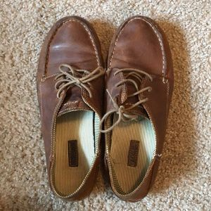 Olukai brown leather loafers